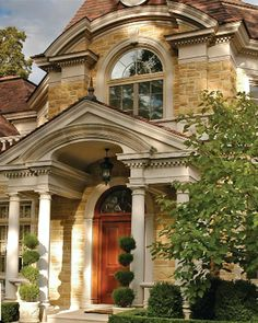 Beautiful Stone Home & entrance.