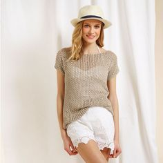 Knitted lace top