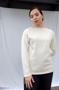 Guildo R Long Sleeve Cotton Top Saint James, Chef Jackets, Pairs, Denim, Long Sleeve, Sleeves, Cotton, Tops, Fashion