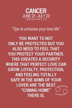 Cancer ♋ Zodiac Sign. Tips to enhance your love life here!