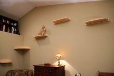 Corner Climber Mountain Cat Shelf - CatsPlay.com - Fun furniture, condos and climbing gyms for cats and kittens.