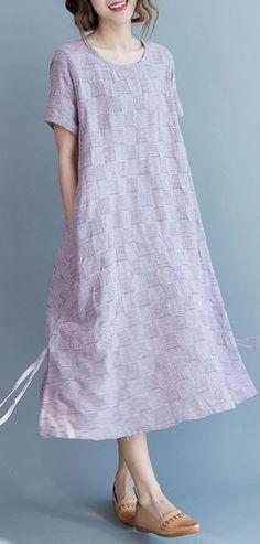 2017 summer violet cotton dresses plus size sundress oversize casual clothing