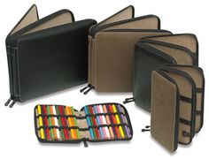Color pencil case.  They have tons that can fit as many pencils you need!!
