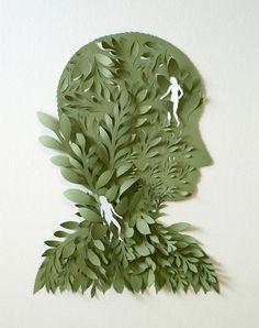 Illustration / Cut Paper Sculptures and Illustrations by Elsa Mora