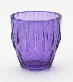 """Diamond"" glass in purple by Lisbeth Dahl Copenhagen Spring/Summer 13. #LisbethDahlCph #Diamond #Purple #Glass #Kitchen"