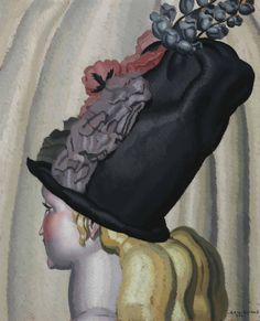 Jean Dupas (French, 1882-1964), Portrait of a Woman with Hat, 1924. Oil on board, with silvered-wood frame, 55.2 x 45 cm.