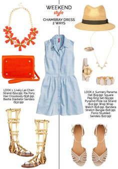 Weekend Style: Chambray dress featuring accessories from Prima donna