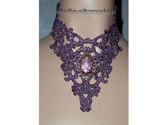 OOAK Mauve Swirl Unique Victorian Formal Lace by medievaltomodern, $39.00