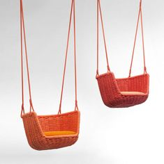 Hmmm a few of these gorgeous Adagio Outdoor Swings by Francesco Rotaby to scatter  along the creek beds have just been added to the ever growing 'want' list :)