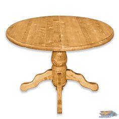 TABLE RONDE en Pin avec Allonge: CHAMONIX | meublespin.fr Chamonix, Table, Solid Pine, Woodwind Instrument, Desk, Bench, Tabletop, Vanities