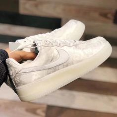 The Nike Air Force 1 UpStep Glass Slipper Exudes Shimmering