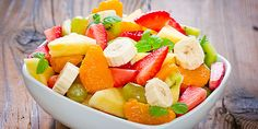 Fruit Salad Recipe is delicious, tasteful and yammi dish. Fruit Salad can be made in less than few minutes with the help of very few ingredients Summer Salads With Fruit, Fresh Fruit Salad, Fruit Salad Recipes, Fruit Salads, Healthy Fruits, Healthy Eating, Healthy Recipes, Healthy Salads, Body Crunch