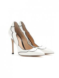 Gianvito Rossi Lucille Leather Pumps // #Shopping