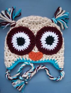 irecommendjackdaniels:  Crochet Owl Beanie. na We Heart It http://weheartit.com/entry/73979398/via/Brynn_Conklin  Arg! I love owl things. An...