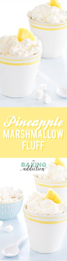 Pineapple Fluff is made with pineapple Jell-o mix and crushed pineapple. So easy… Pineapple Fluff is made with pineapple Jell-o mix and crushed pineapple. So easy and amazing! My family raves about this every single time I make it! Sweet Desserts, Just Desserts, Sweet Recipes, Delicious Desserts, Yummy Food, Yummy Recipes, Pineapple Fluff, Crushed Pineapple, Jello Recipes