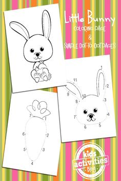 Simple Bunny Coloring Pages for Easter - Kids Activities Blog