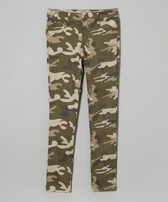 This Olive Camo Pants - Girls is perfect! #zulilyfinds