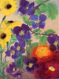 ❀ Blooming Brushwork ❀ - garden and still life flower paintings - Emil Nolde | Flowers