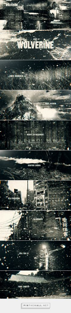 Pitch for Wolverine 2013 title sequence (2013)... - a grouped images picture…