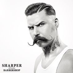 The MEN from @sharperbarbershop sure know a strong moustache when they see one. #TheManClub www.apothecary87.co.uk #Apothecary87