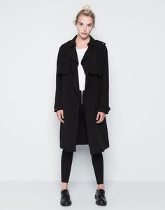 LONG LOOSE-FITTING TRENCH COAT WITH A BELT - COATS - WOMAN - PULL&BEAR United Kingdom