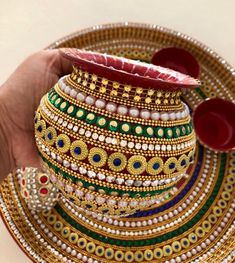 Your place to buy and sell all things handmade Arti Thali Decoration, Kalash Decoration, Diwali Decoration Items, Thali Decoration Ideas, Flower Decorations, Diwali Craft, Diwali Diy, Desi Wedding Decor, Wedding Crafts