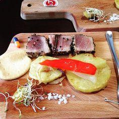 #tataki dorneiro con toque personalizado  #festadadorna #instafood #healthy #recovery #food by pablosarasquete