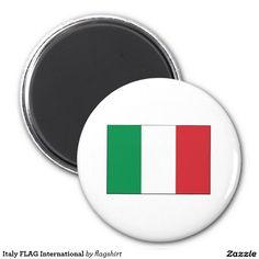 Italy FLAG International 2 Inch Round Magnet
