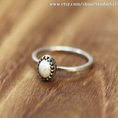 white buffalo turquoise ring , stacking ring, cute ring, stone ring, birth stone, thin silver ring, stack ring, silver ring