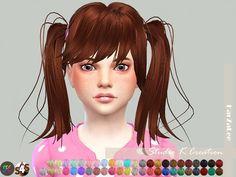 Studio K Creation: Animate hair 78 -Judy Child version • Sims 4 Downloads