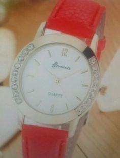 Fashion Geneva Women Watch Leather Band Diamond Analog Quartz Wrist Watch Gift #e_back