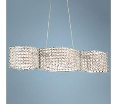 "Possini Euro Alessi 33"" Wide Crystal Pendant Light 