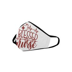 Blessed Nurse dark red on white Mouth Mask Bff Gifts, Gifts For Mom, Mouth Mask Design, Mouth Mask Fashion, Mask Online, Ideal Image, Spanish Fashion, Mask For Kids, Ear Loop