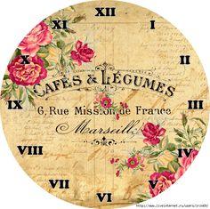 Another clock / Decoupage / pictures for decoupage Vintage Labels, Vintage Ephemera, Vintage Paper, Retro Vintage, Clock Face Printable, Printable Paper, Clock Art, Diy Clock, Clocks