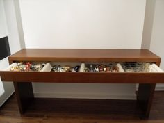 malm dressing table. SO much storage.