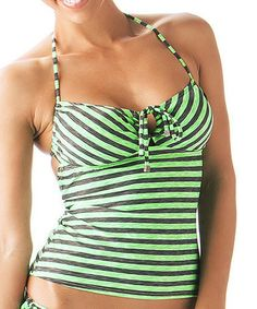 Loving this Eco Green Keyhole Tankini Top - Women on #zulily! #zulilyfinds