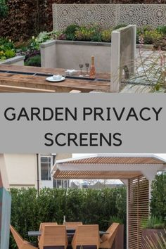 New directions in garden privacy screens