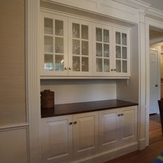 Built In Hutch Dinning Room! Would Love For A Coffee Bar For Coffee Maker,  Keurig, Mugs,etc. With Just Shelving Above And Not Upper Cabinets What A  Great ...