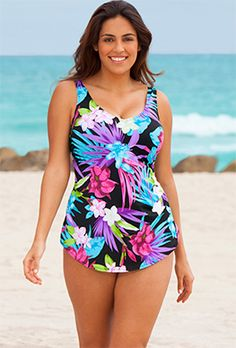 One piece swimsuits sale! Hurry and get your favorite one piece sale swimsuits before your perfect size is sold out at Swimsuits For All. Swimsuits For All, Plus Size Swimsuits, One Piece Swimwear, Women Swimsuits, One Piece Swimsuit, Plus Size Bade, Swim Dress, Tankini Top, Moda Online