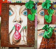 studio di donna con occhi e naso di vinavil