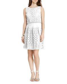 Lauren Ralph Lauren Cotton Eyelet Dress | Bloomingdale's