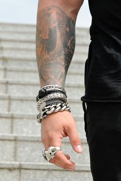 DIEZI New Men Women 7 Chakra Bracelets Bangles Colors Mixed Healing Crystals Stone Chakra Pray Mala Heart Charm Bracelet JewelryMen s Jewelry Braided Bracelets, Silver Bracelets, Bracelets For Men, Fashion Bracelets, Fashion Jewelry, Bracelet Men, Metal Bracelets, Men Accesories, Fashion Accessories