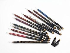 Naovio 12 Pcs Women Eyeliners Set Brow Liner Lipliner Eyeliner Pencils Set Makeup Liners Ideal Christmas Gift Halloween Gift for Girls,Creamy Kohl *** Details can be found by clicking on the image.