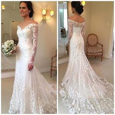Vestido De Noiva Lace Wedding Dress V-Neck Long Sleeve Button Sweep Train Applique Wedding Gowns Mermaid Wedding Dress Bride Dresses from bettybridal – Wedding ideas Wedding Dress Brands, Lace Mermaid Wedding Dress, Mermaid Dresses, Dream Wedding Dresses, Bridal Dresses, Mermaid Bridal Gowns, Petite Bride Wedding Dress, Wedding Dress Long Train, Classic Wedding Gowns