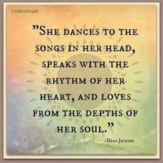 She dances to the songs in her head
