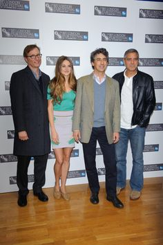 George Clooney goes casual for Descendants photocall at BFI Film Festival