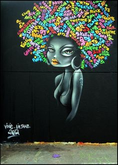 Beyond Banksy Project / Vinie street art Murals Street Art, 3d Street Art, Street Art Graffiti, Street Artists, Graffiti Artists, African American Art, African Art, Pop Art, Urbane Kunst