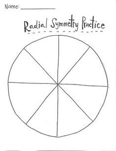 This worksheet is for students to practice making designs using radial symmetry. The back has an assessment for students to identify radial symmetry and then to demonstrate their knowledge by finishing multiple designs.