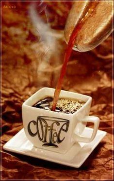 Nadire Atas on Cafe , Tea, Desserts and Lovely Flowers Coffee Gif, Coffee Talk, I Love Coffee, Coffee Quotes, Hot Coffee, Coffee Break, Coffee Drinks, Coffee Cups, Coffee Menu