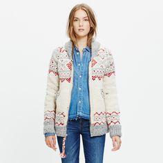 Chamula™ Fair Isle Cardigan Sweater : cardigans | Madewell